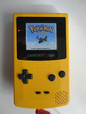 modded AGS 101 Nintendo Game Boy Color  Edition yellow Handheld System BACKLIT