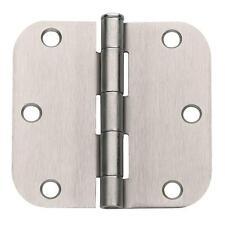 """Lot of 50 Satin Nickel 3.5"""" x 3.5"""" (3-1/2"""") Door Hinges with 5/8"""" Radius Corners"""