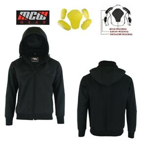 MENS Partial Softshell Motorcycle MOTORBIKE REMOVABLE CE ARMOUR JACKET Hoodie