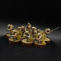 Pro Painted 28mm bolt action British 8th army infantry×10 squad #3 ww2