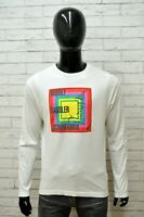 Maglia Bianca Uomo PUMA Taglia Size XL Maglietta Shirt Man Cotone Manica Lunga