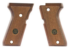 Beretta 92SB Compact Grips, Checkered Walnut - For American Magazine Catch