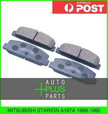 Fits MITSUBISHI STARION A187A Pad Kit, Disc Brake, Rear