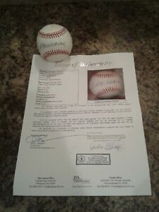 🔥TED WILLIAMS SIGNED BASEBALL JSA LETTER OF AUTHENTICITY🔥