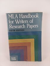 MLA Handbook for Writers of Research Papers, Fifth Edition, Joseph Gibaldi Paper