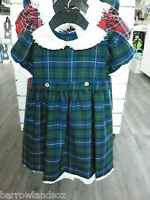 MacLeod Tartan Girls Traditional Tartan Dress, Available Sizes 2yrs, 3yrs & 4yrs