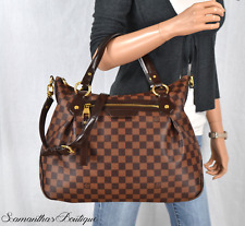 LOUIS VUITTON EVORA MM DAMIER EBENE LEATHER SATCHEL SHOULDER BAG HANDBAG PURSE