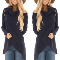 Women's Long Sleeve Casual Sweatshirt Pullover Sweater Jumper Tops Blouse Shirt