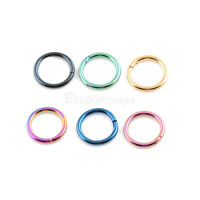14G 16G 18G Steel Hinged Septum Clicker Segment Ear Cartilage Nose Ring Daith