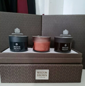 MOLTON BROWN 3 candles gift set with box ( Christmas offer ) 🤩