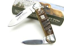 Couteau Ram's Horn Canoe 2 Lames Carbone/Inox Manche Corne de Bélier RR1510