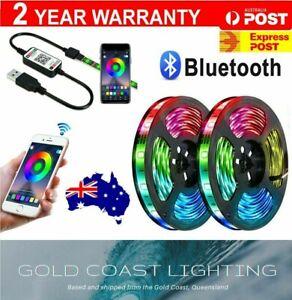 USB LED Strip Lights RGB IP65 Waterproof 5050 1M-10M 60-300 LEDs Bluetooth 5V