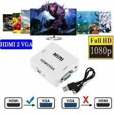HD 1080P MINI HDMI to VGA Converter With Audio HDMI2VGA Video Box Adapter GT