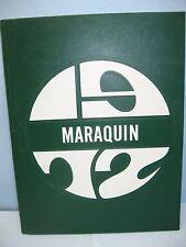 1972 Maraquin, Saint Thomas Aquinas High School, New Britain, Conn Yearbook