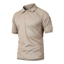 CRYSULLY Mens Breathable Quick Dry Polo Tee Shirt Military Casual Hiking T-Shirt