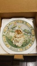 Cherished Teddies by Enesco Spring Four Seasons Plate Season Beauty 203386