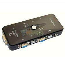 4 Port USB 2.0 KVM Keyboard Monitor VGA/SVGA SWITCH BOX to Controle Multiple US