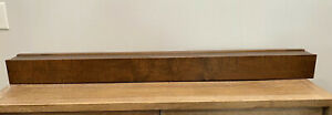 Pottery Barn Rustic Brown Wood Floating Shelf 4 ft - 48 in W x 4.5 in D x 4 in H