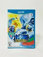 Nintendo Wii U Pokken Tournament Pokemon 2016 Video Game Complete