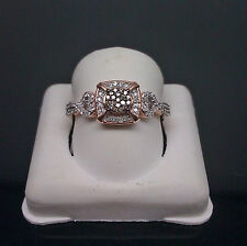 10K Rose Gold With 0.23CT Round Diamond Promise/ Engagement Ladies Ring
