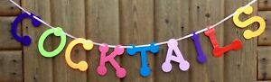 COCKTAILS SIGN BIRTHDAY BUNTING DECORATION PARTY NIGHT