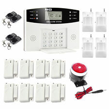 Wireless LCD GSM SMS Home Security Burglar House Fire Alarm System Auto Dialer