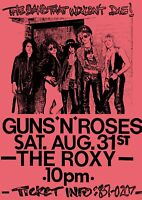 """Reproduction Alternate """"Guns 'N' Roses - The Roxy"""" Poster, Rock, Size A2"""