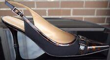 STUART WEITZMAN Womens Slingback Stiletto Peep Toe Pump Tortoiseshell US Size 8