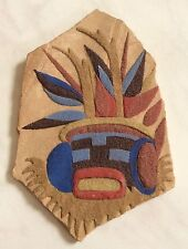 1977 SUSAN POPKO Sculptured Sand Painting HOPI KACHINA CHOF ANTELOPE