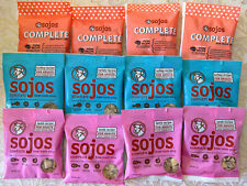 12 NEW sample bags Sojos Freeze Dried Raw Turkey Pork Lamb COMPLETE Dog Food!