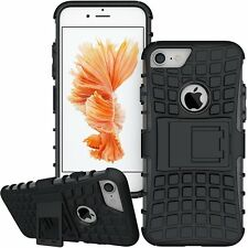 iPhone 8 Armour Strong Case. Shockproof Protective Rubber Cover - Black