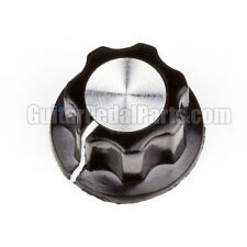 10x Fluted Mirror Knob for guitar pedals, Black