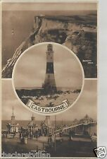 Eastbourne Multiview  Pier Lighthouse Beachy Head Old Unposted Postcard