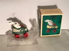 1984 Hallmark Roller Skating Rabbit Handcrafted Ornament in Original Box