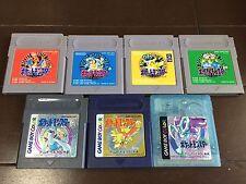 Nintendo GB Game Boy Pokemon Pocket Monster perfect 7 set Japan