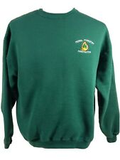 Vintage Penna. Forestry Firefighter embroidered Cotton Sweatshirt Lee Green Sz L
