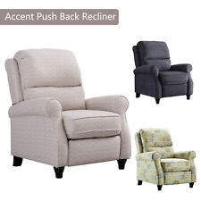 Modern Recliner Chair Easy to Push Back Padded Seat Accent Arm Chair Home Decor