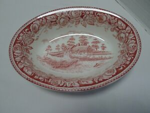 British Anchor Stratford Scenes from the Shakespeare Country Oval Serving Bowl