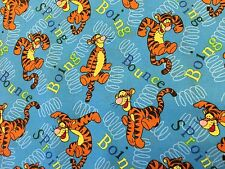Springs Creative cotton Fabric FQ quilting Bouncing Tiger On Blue
