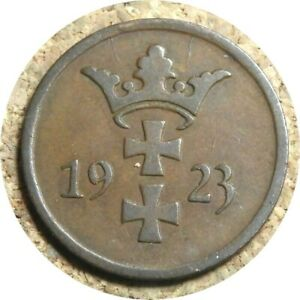 elf Danzig Free City Poland 2 Pfennig 1923
