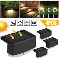 Waterproof LED Solar Lights Auto on/off Wall Fence Outdoor Garden Yard Lamp 4PCS