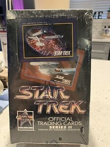 1991 Star Trek Official Trading Cards Series 2 Factory Sealed Box 25th Anniv.