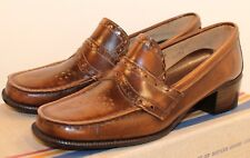 Mother Goose Child's Tooled Loafers 1956 Shoes in Box New old stock Vintage Pair