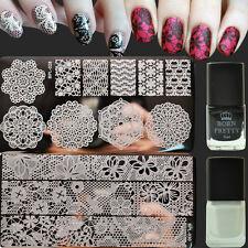 4Pcs Nail Art Stamp Plates Lace Stamp Image Template Stamping Polish