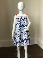 MINI BODEN Age 3-4 Brand New Hawaiian Floral Blue/White Print Summer Dress