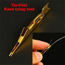 Tie Fast Knot Tying Tool Fly Fishing Tyer Tying Tool Gold Color
