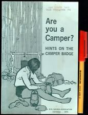 1971 ARE YOU A CAMPER Girl Guides Association Camping Handbook Boy SCOUTS