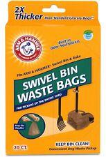 ARM & HAMMER Swivel Bin Waste Bags w/Built-In Odor Neutralizers - 20 Count