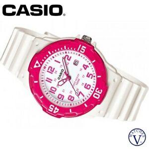 CASIO WOMEN'S ANALOG RUBBER STRAP RED WATCH LRW200H-4BV (NEW)