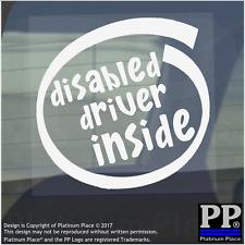 1 X Conducente disabile all'interno-Finestra, Auto, Furgone, STICKER, SEGNO, veicolo, Adesivo, notare